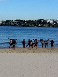 Roosters training at Nth Bondi, Aug 2011