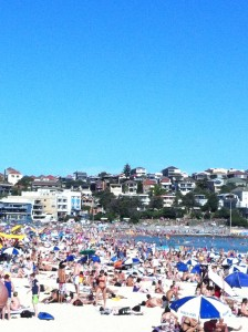 Bondi Beach looking towards the north end, 1st January 2012