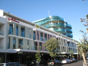 'Boheme' perched above Adina hotel and apartments, Hall Street, Bondi